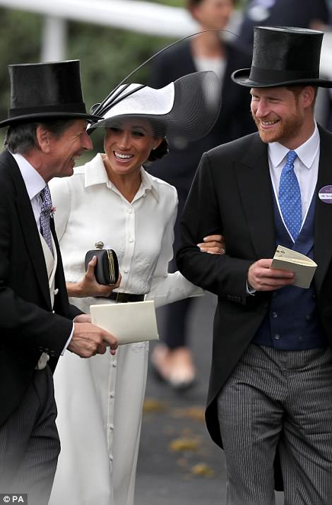 They were making their first Ascot appearance together
