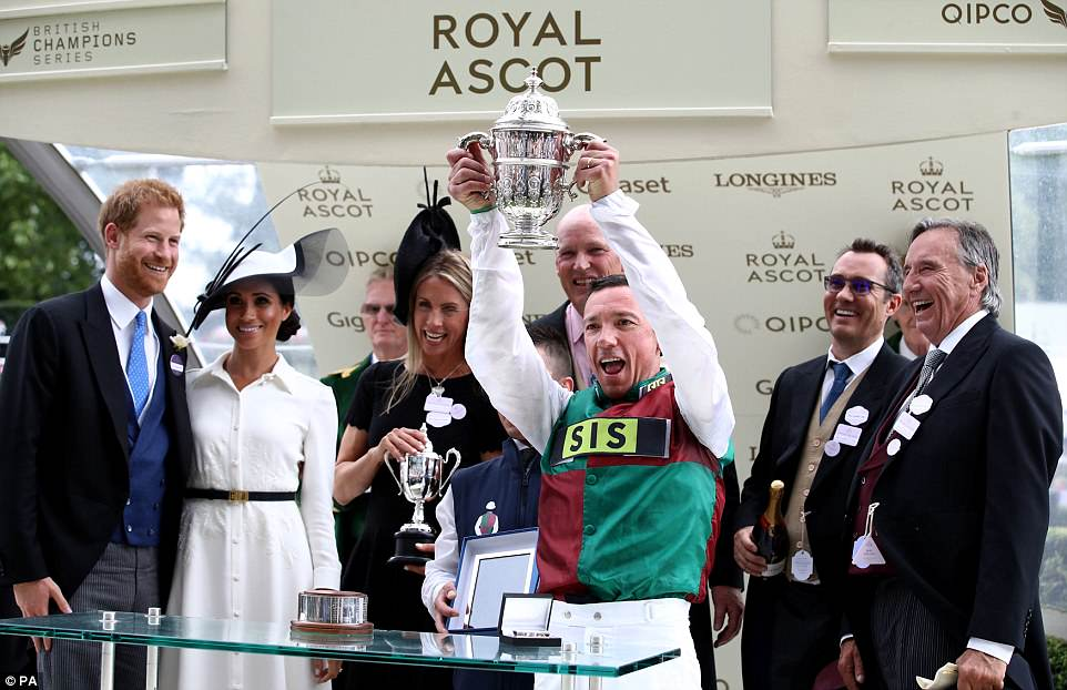Frankie Detorri looked delighted following his win at the St James's Palace Stakes on Without Parole
