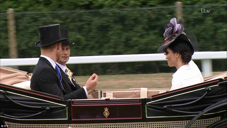 Newlyweds the Duke and Duchess of Sussex joined Prince Edward and Sophie in their carriage during the royal procession