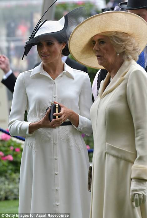 The new Duchess of Sussex was seen alongside Camilla