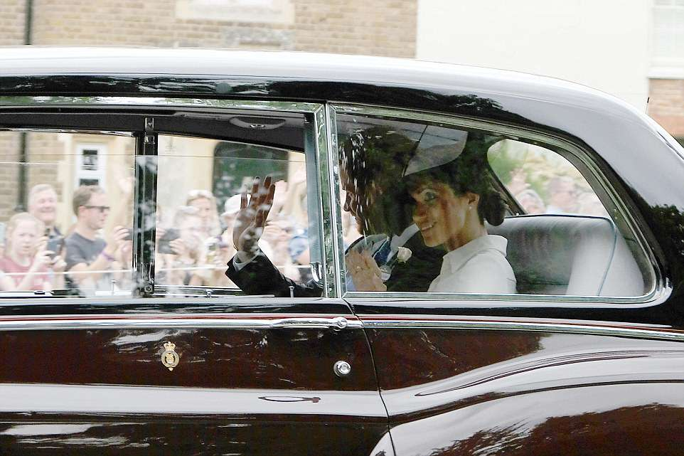 The Duchess of Sussex was earlier seen leaving for her first ever appearance at Ascot, alongside Prince Harry