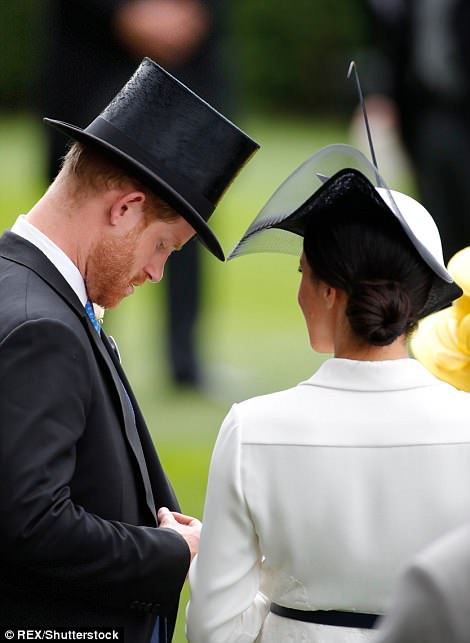 The couple looked relaxed at Ascot today