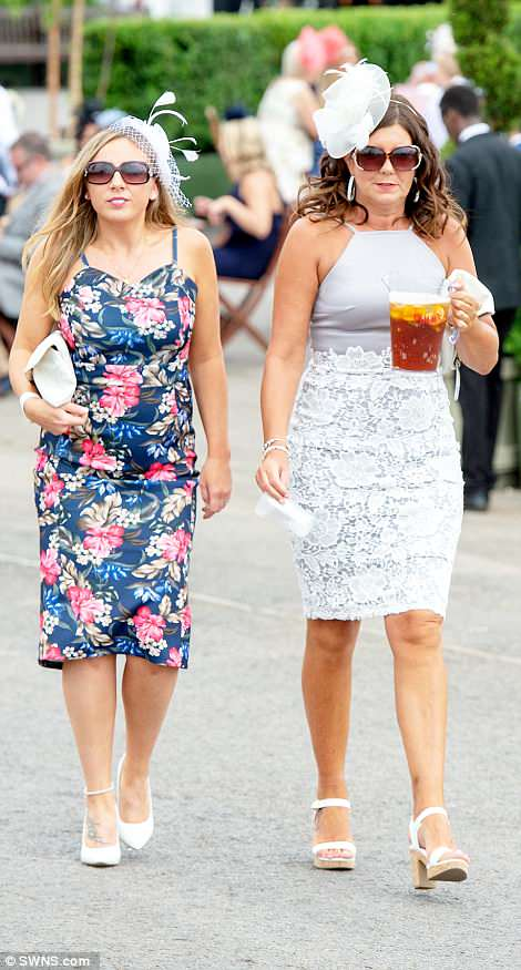 It was Pimms o'clock for one woman