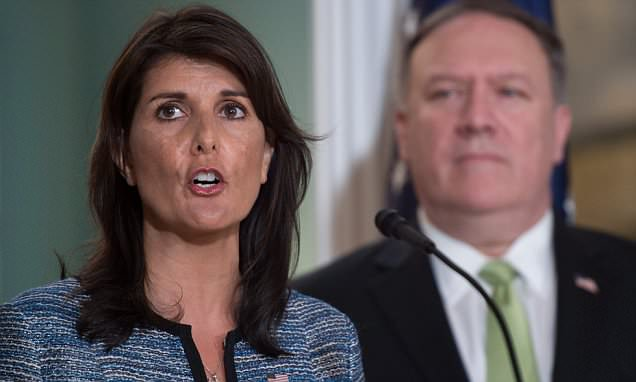 Nikki Haley pulls US out of 'cesspool' UN Human Rights Council