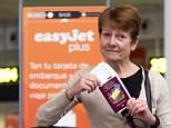 Christine Humphreys boarded an easyJet flight from Malaga to Liverpool on Tuesday but claims she was ordered off the plane after getting in a row with the steward over her hand luggage