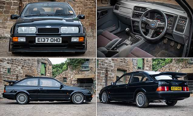 This 1987 Ford Sierra RS500 Cosworth is pitched to sell for £105,000