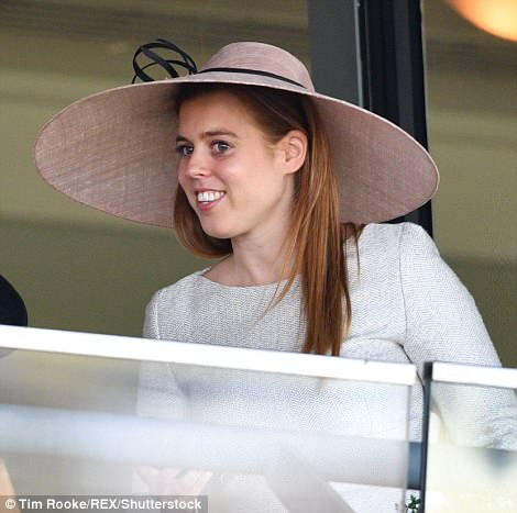 Princess Beatrice opted for a pared back look, teaming her dress from The Fold with a pink picture hat by Sarah Cant