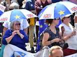 Crowds gather in central London today to demand a 'People's Vote' on the terms of the final EU deal, two years to the day since the Leave campaign's victory in the 2016 referendum