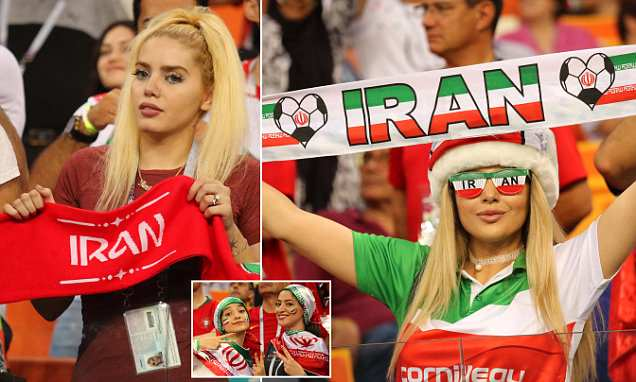 Iran's female fans enjoy the chance to support their World Cup heroes against Portugal