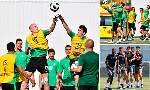 Australia show off their handling skills ahead of must-win Peru World Cup clash