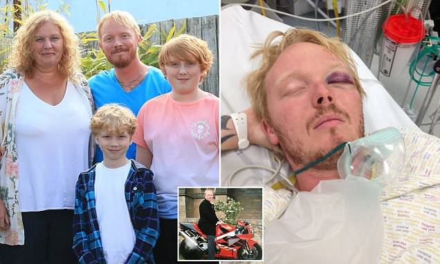 Father, 40, relies on photos after motorbike crash destroyed his ability to make new