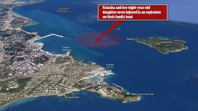 The yacht was about three miles from shore when it was rocked by the blast
