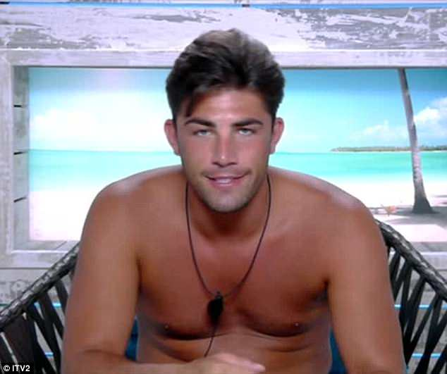 Happy days:Love Island's Jack Fincham has been warned that there may be trouble ahead after he lied to his girlfriend Dani about the number of people he had slept with following a game of Mr And Mrs, as he claimed to have bedded 50 women