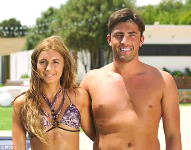 Happy days:After making the confession to a stunned Dani, he headed into the Beach Hut, where he admitted the figure was more like 80 - leading to fans speculating that Danny would be raging on the outside at the shocking news
