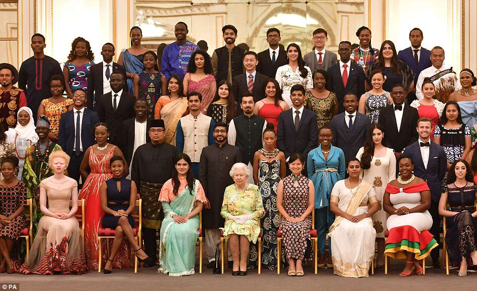Young people came from all corners of the globe for tonight's reception.The Queen's Young Leaders programme was launched in 2014 in honour of the monarch's lifetime of service to the Commonwealth – a global network of 53 countries
