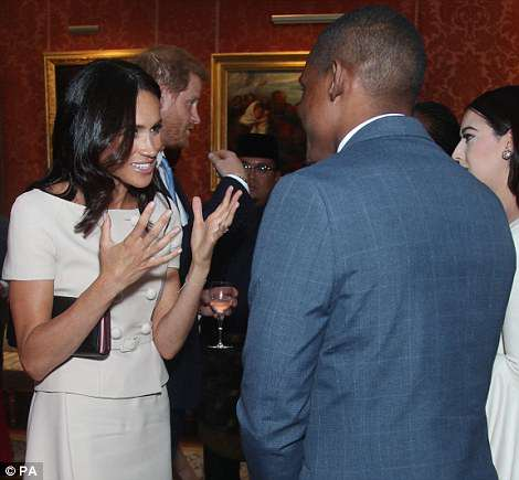 Meghan at the event