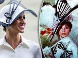 Wearing a black and white hat by another new favourite, Philip Treacy, Meghan gave a modern twist to a famous outfit from the Hollywood musical