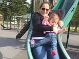 A mother whose one-year-old daughter broke her leg while they went down a slide together has warned other parents never to go on a slide with their child