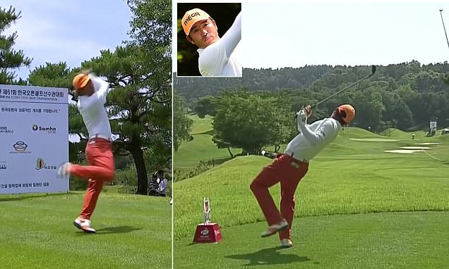 Is this the craziest golf swing ever? Ho-sung Choi becomes a viral sensation