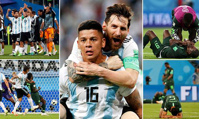 Nigeria 1-2 Argentina: Messi and Rojo goals send them to last 16