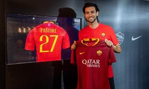 Roma land Javier Pastore from Paris Saint-Germain in £22m deal