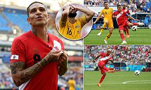 Australia 0-2 Peru: Socceroos out after Carrillo and Guerrero goals