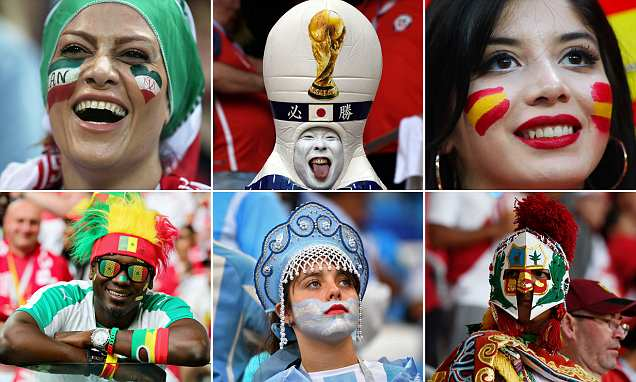 How football fans are displaying their devotion at the World Cup