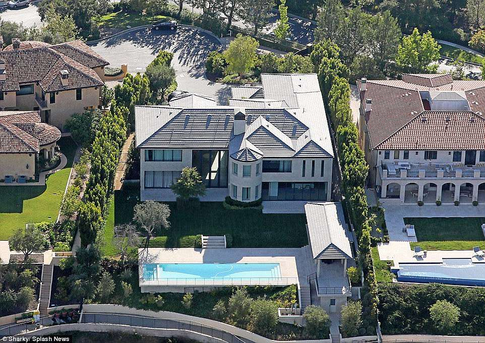 Glittering: Set in one of LA's most prestigious neighbourhoods, the couple sold the 10,000 square foot property to Silicon Valley-based, Ukrainian philanthropist Marina Acton
