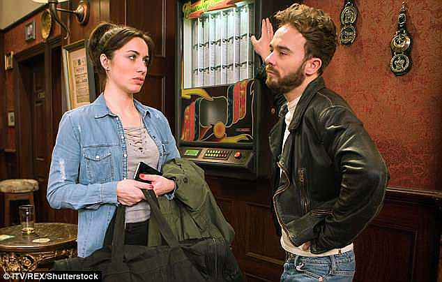 Unimpressed: Fans will have to wait and see whether David and Shona can finally make it down the aisle, as one of three proposals to rock the soap this summer