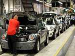 The stark warning by Stephan Freismuth, the car giant's customs chief, comes days after Airbus said it could leave the UK if Britain crashes out of the EU without a deal (pictured, the BMW Mini plant in Oxford)