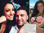 Sophie Gradon's heartbroken boyfriend wrote on Instagram: 'To think I will never see your beautiful smile again haunts me'