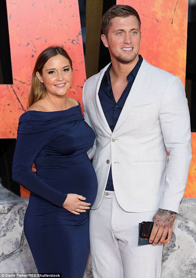 She's here! Jacqueline Jossa has reportedly given birth to her second daughter with estranged husband Dan Osborne on Monday morning - pictured in April