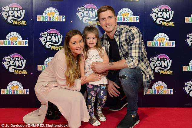 Love: The on-off couple are also parents to three-year-old Ella - Dan has a son Teddy, four, from a previous relationshi