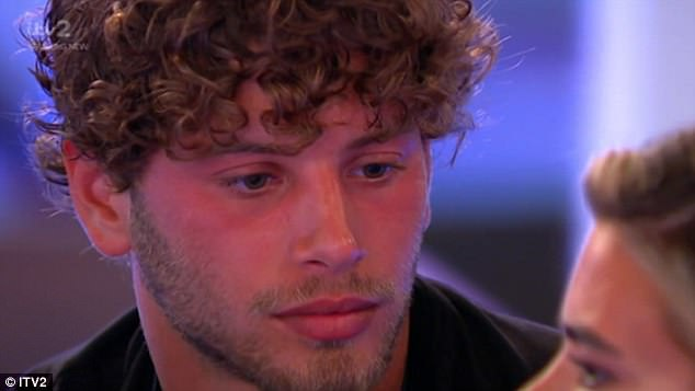 Tense: The clip sees Megan appear to call off her fling with fellow model Eyal, after expressing her doubts over the pair's chemistry