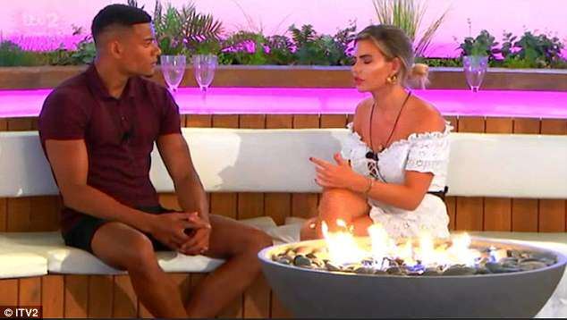 Heart-to-heart: In a more shocking twist, the camera then cuts to Megan sitting at the fire pit with Wes, and revealing: 'I keep gravitating toward you'