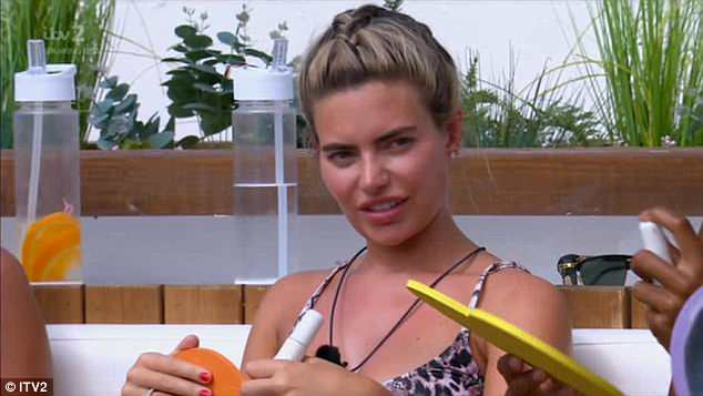 Not happy: On Monday Megan was left infuriated when the model said he would have coupled up with Georgia if he could pick any girl in the villa during a 'getting to know me' challenge