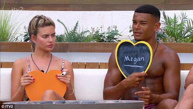 Uh oh: Meanwhile Laura was no doubt already annoyed at Megan, after Wes admitted he would pick the model if he had to pick another girl during the same challenge.
