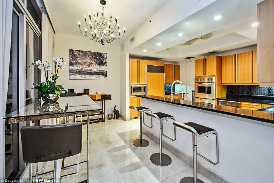 Stunning: The stunning apartment is based over 2,140-square-foot space, and boasts two bedrooms and 2.5 bathrooms