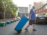 Frustrated residents of Hulme have been left upset by Manchester commuters parking on their streets have decided to fight back by lining the roads with their bins this morning