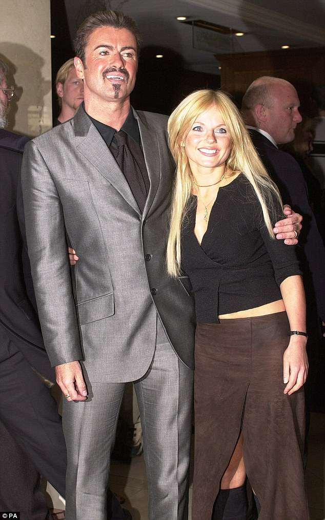 Tight-knit: Geri and George had met in their youth - with Geri revealing in the past that she had not realised he was gay at their first meeting, so tried to make a move (pictured 2000)