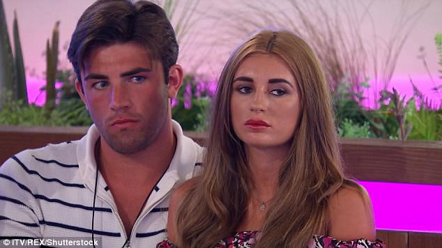 Drama: The brunette bombshell, who dated Jack, 26, just before he entered the villa, is said to be planning to steal him off Dani, 21, and put an end to their newly-formed relationship