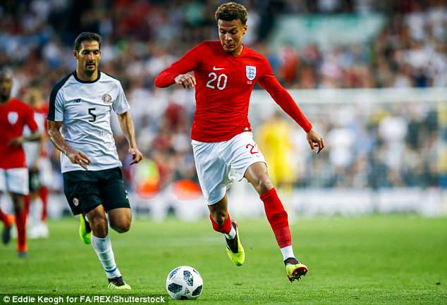 Success:The midfielder suffered a thigh strain during England's 2-1 win over Tunisia last Sunday but is hoping to return to fitness in time for what is to be the group-deciding match with Belgium on Thursday