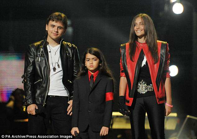Beloved brood:Michael left behind three children, Paris, Prince Michael, 21 (left), and Blanket, 16 (middle) - pictured in 2010