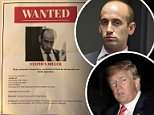 Protesters marched around Stephen Miller's DC condo building Monday evening