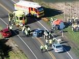 A newborn baby and four elderly people died instantly in a head-on collision in New Zealand