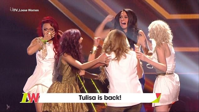 Her girls: Speaking of her time as a mentor to Little Mix on X Factor, Tulisa said she's very proud of their success