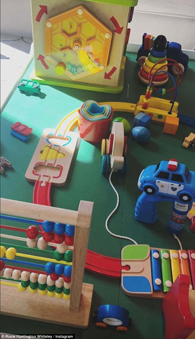 Spoiled: Other gifts included a interactive car track complete with a xylophone, a tool kit and cookery set