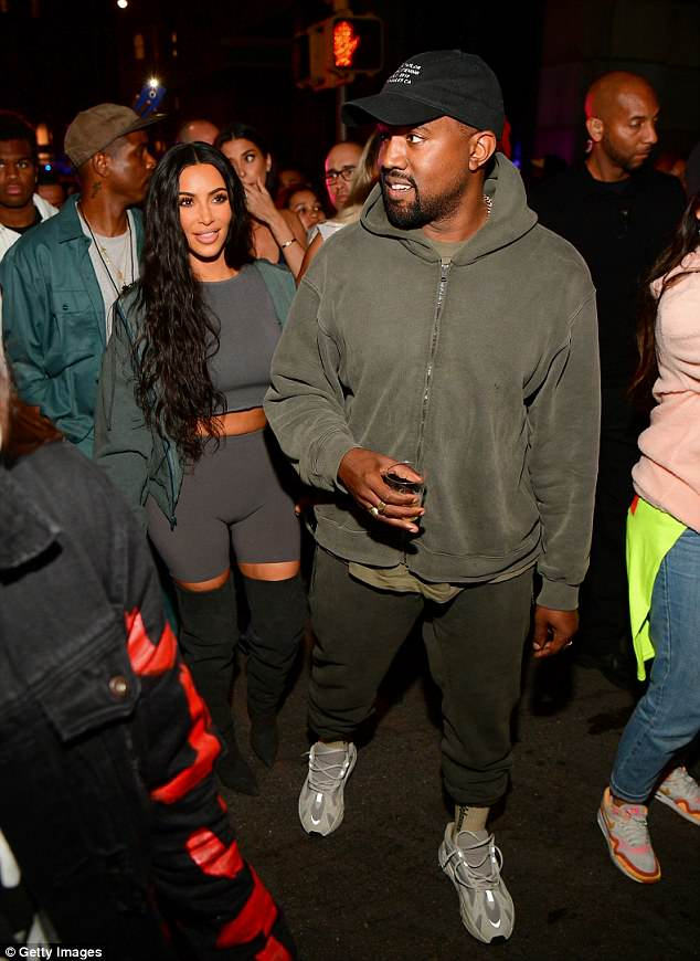 Interesting: Kim Kardashian got Kanye West (as they are pictured in LA last week) to participate in 'scream therapy' according to his New York Times interview released on Monday