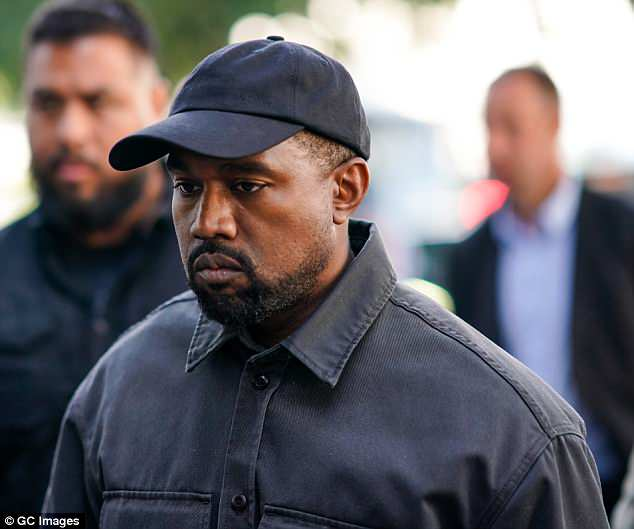 Opening up: In the same article Kanye (Pictured in Paris on Sunday) said he called up family members asking if wife Kim  was leaving him after his controversial slavery comments