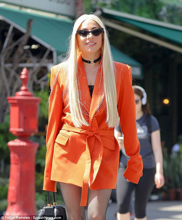 Hello, gorgeous: This Monday, Lady Gaga was glimpsed out in her native borough of Manhattan, proving as eye-catching a clotheshorse as ever